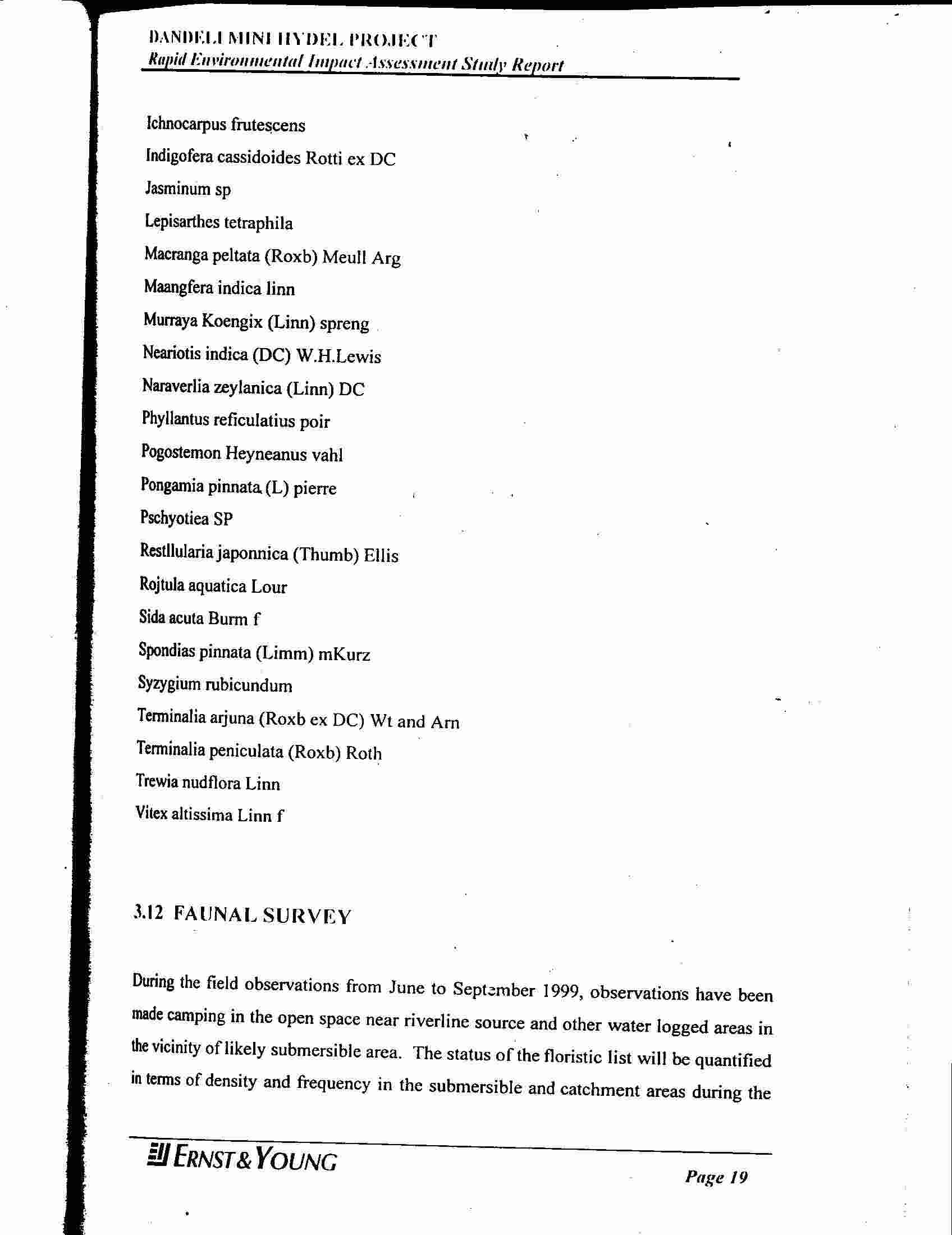 the dandeli eia fraud environment support group dmh plant list continued